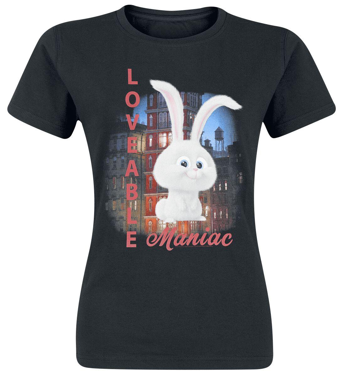 Pets Loveable Maniac Girl-Shirt schwarz