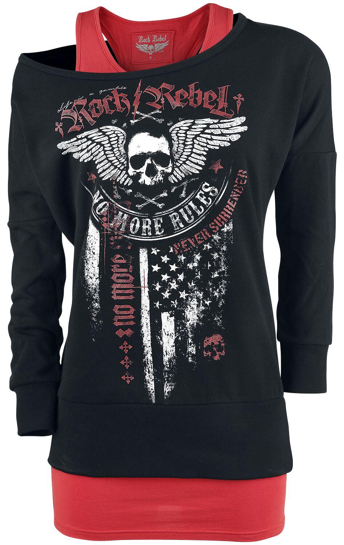 Image of   Rock Rebel by EMP Break Free Girlie sweatshirt bordeaux-sort