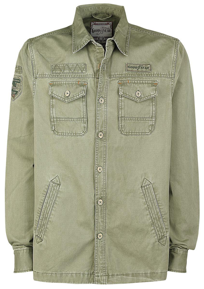 Marki - Koszule z długim rękawem - Koszula GoodYear Roundup Koszula oliwkowy - 350260