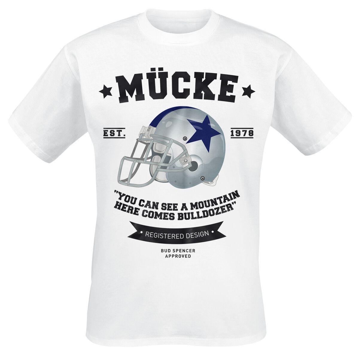 Merch dla Fanów - Koszulki - T-Shirt Bud Spencer Bulldozer T-Shirt biały - 350262