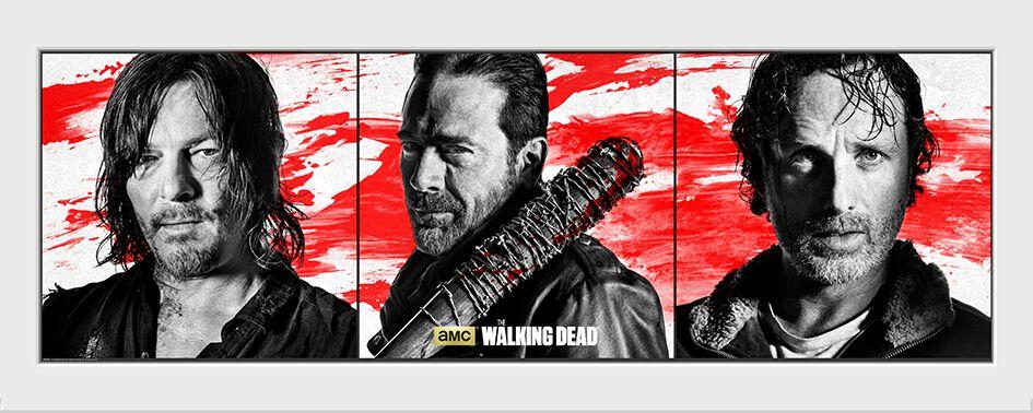 Image of   The Walking Dead Daryl Dixon - Negan - Rick Grimes Indrammet billede Standard