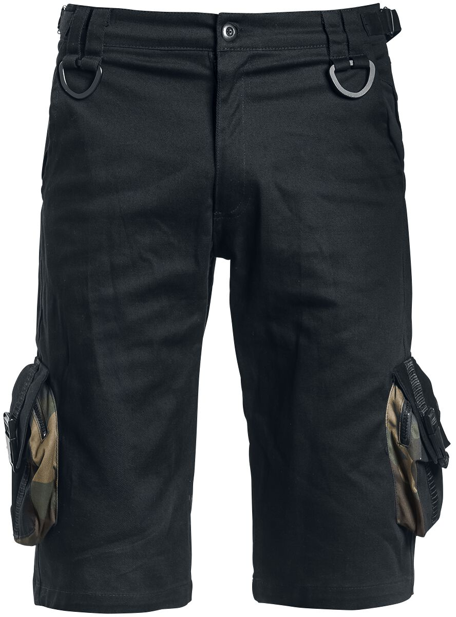 Image of   Gothicana by EMP Camo Detail Shorts Shorts sort