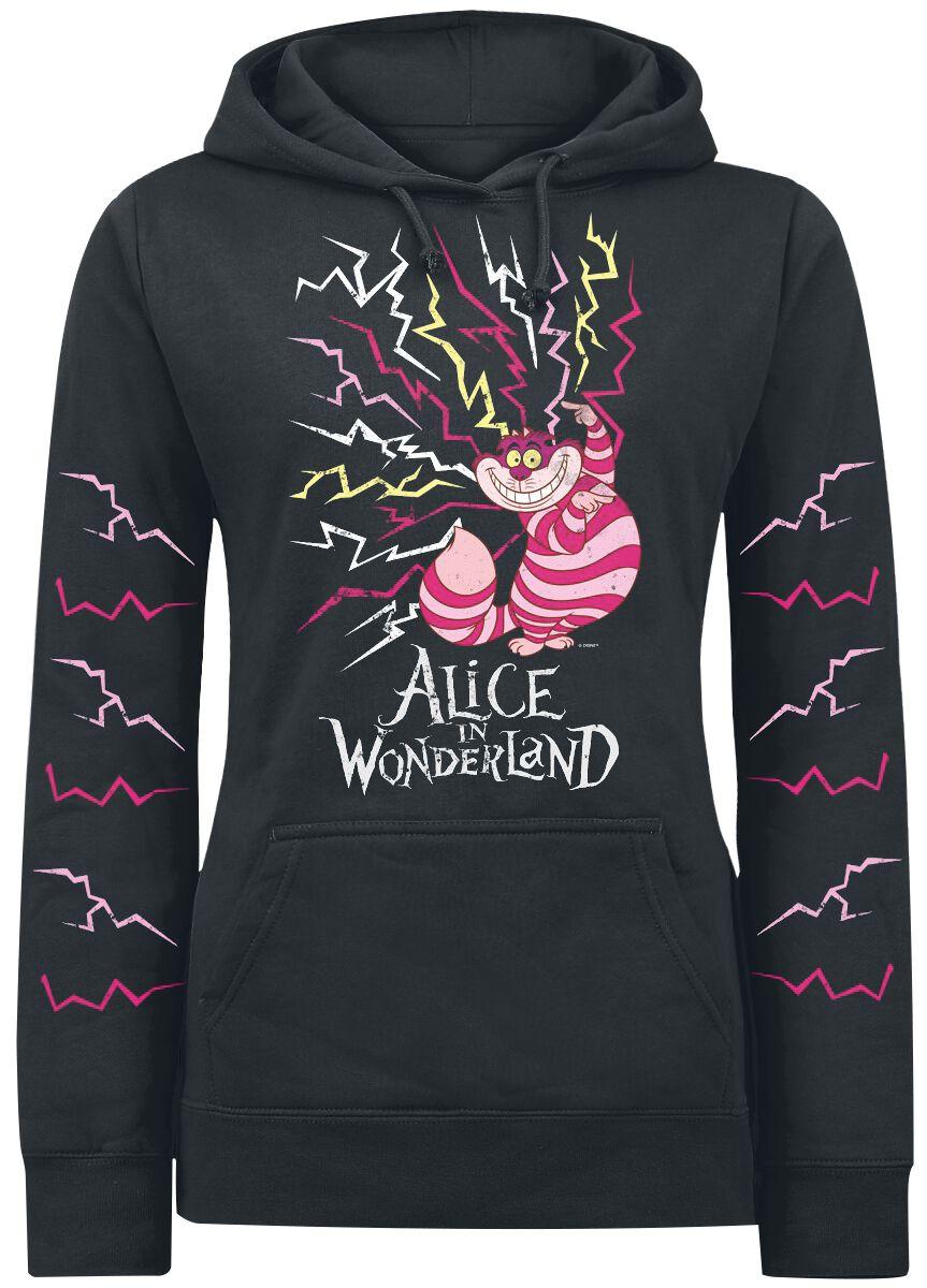 Image of   Alice i Eventyrland Filurkatten - Lightning Girlie hættetrøje sort