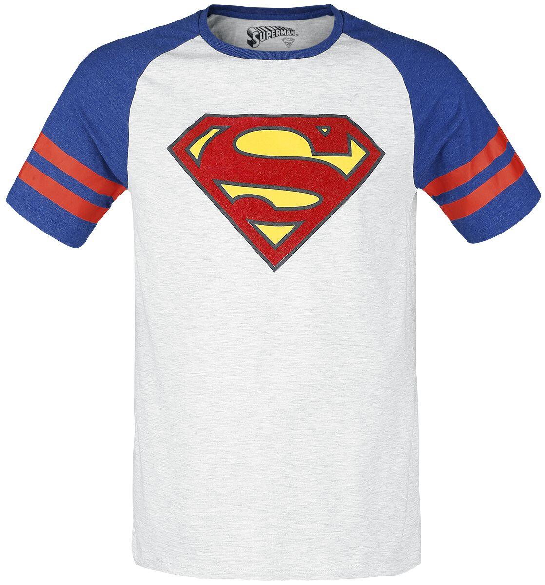 Merch dla Fanów - Koszulki - T-Shirt Superman Athletics T-Shirt jasnoszary melanż/cimnoszary melanż - 350391