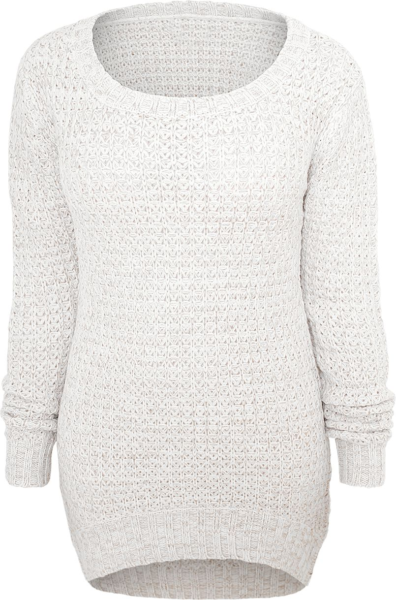 RED by EMP Long Wideneck Sweater Sweter damski biały (Old White)
