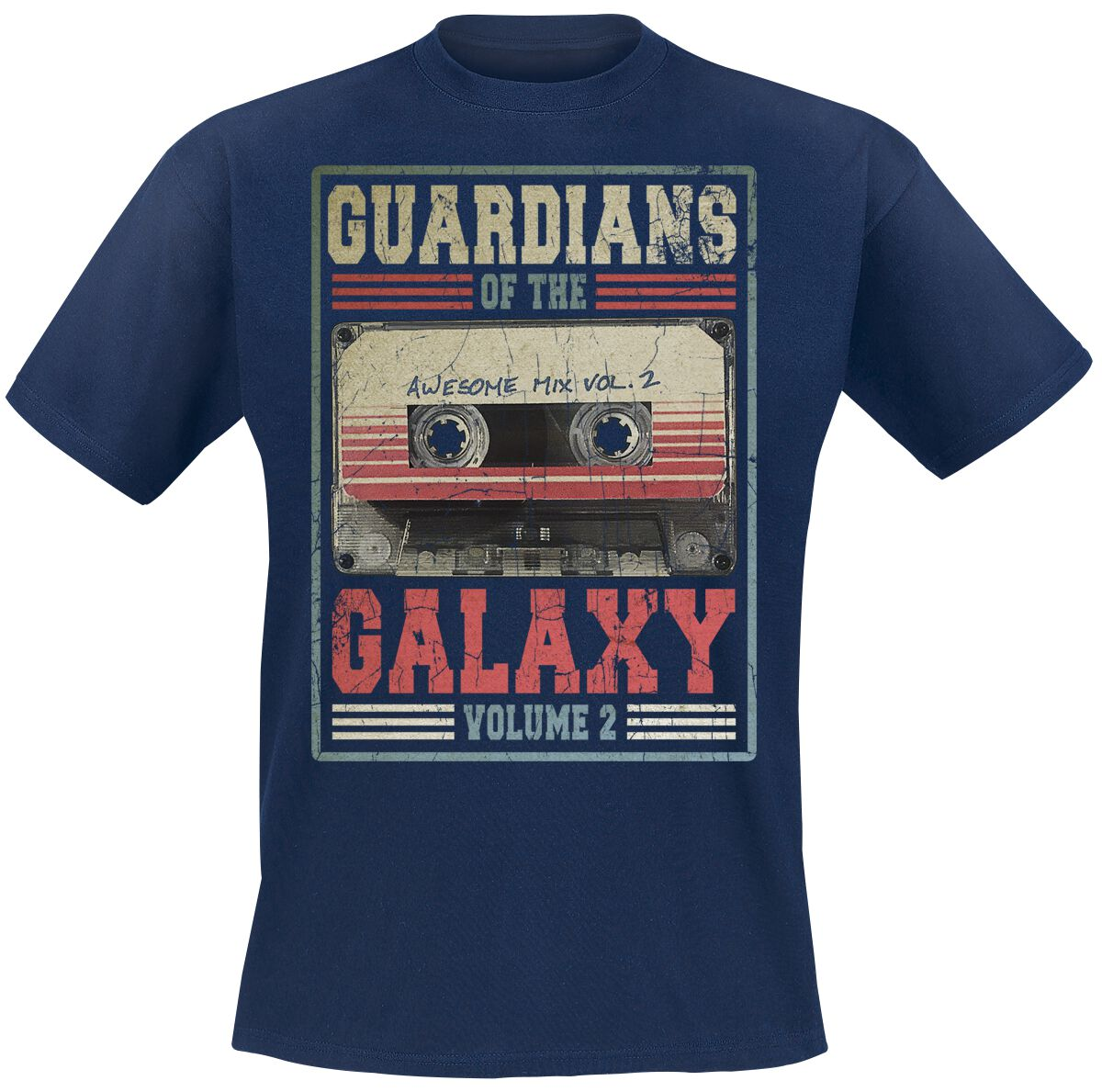 Image of   Guardians Of The Galaxy 2 - Mixtape Vol. 2 T-Shirt navy