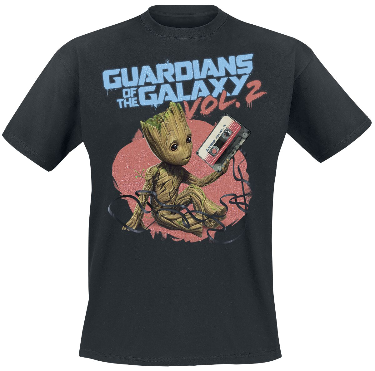 Image of   Guardians Of The Galaxy 2 - Groot Tape T-Shirt sort