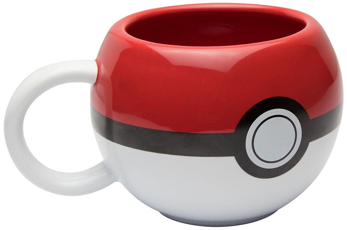 Pokeball 3D Tasse rot/weiß