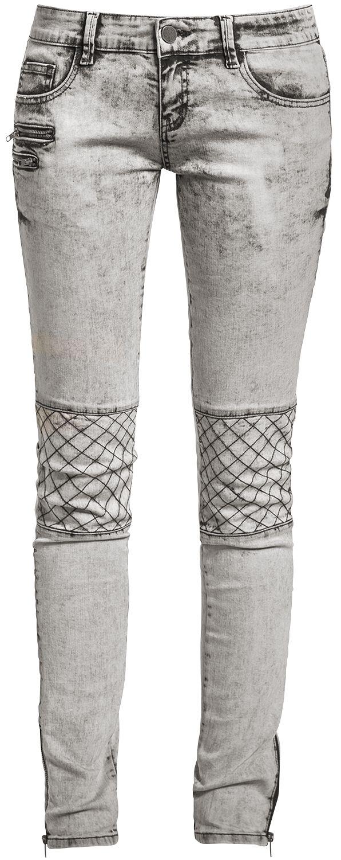 Image of   Fashion Victim Biker Jeans Girlie jeans grå