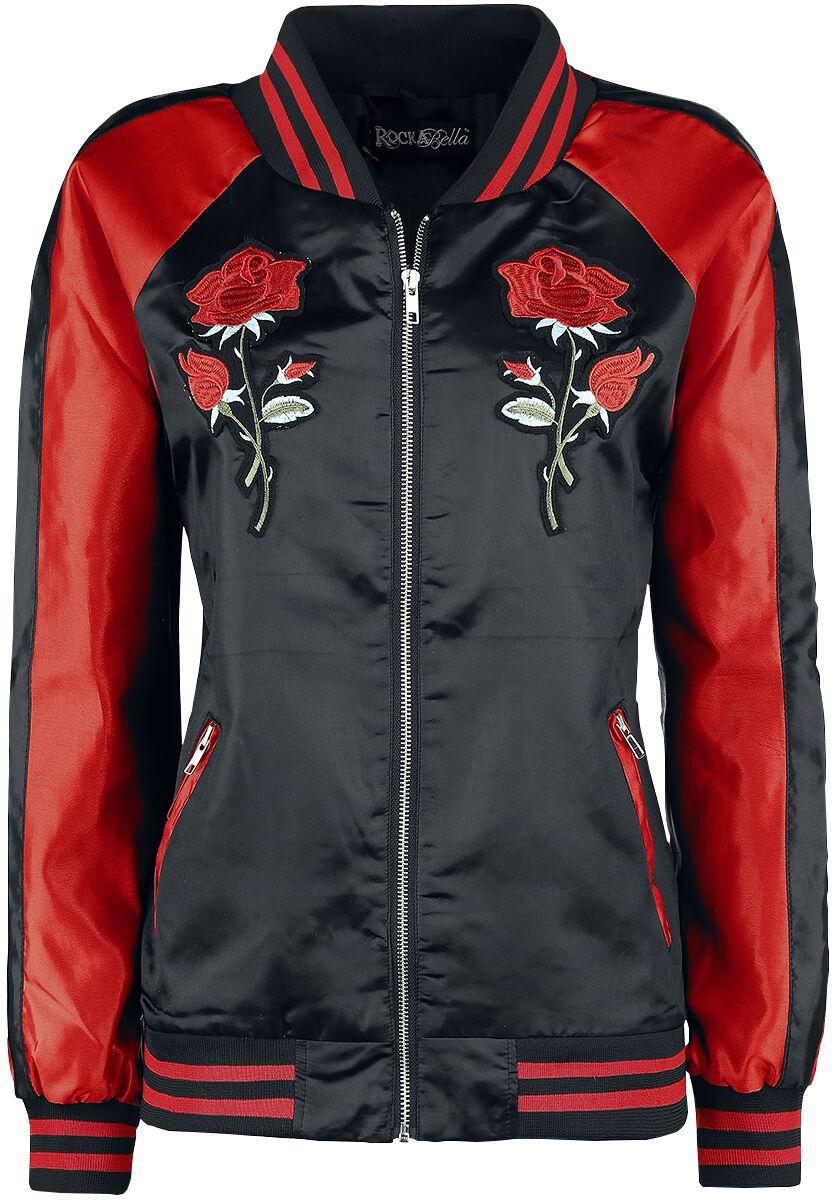 Marki - Kurtki - College Jacket damska Rockabella Keiko Jacket College Jacket damska czarny/czerwony - 350592
