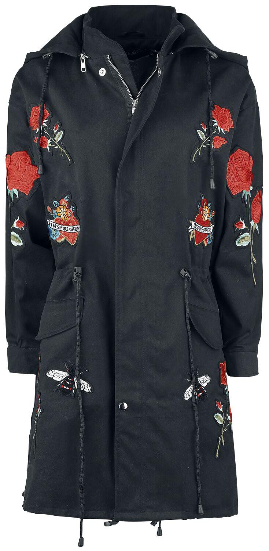 Marki - Płaszcze - Płaszcz damski Rockabella Rose Tour Jacket Płaszcz damski czarny - 350597