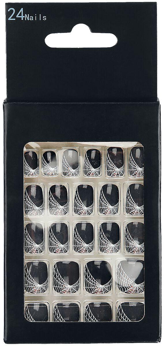Marki - Kosmetyki - Sztuczne paznokcie Zoelibat Cobweb Sztuczne paznokcie szary/biały - 350667