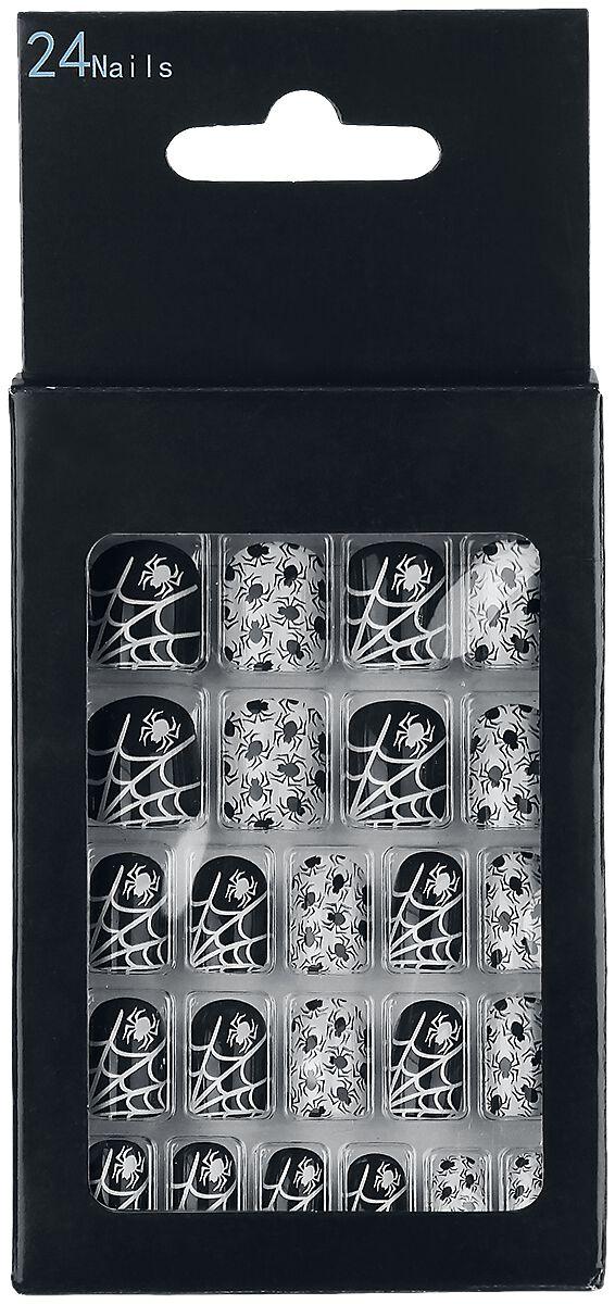 Marki - Kosmetyki - Sztuczne paznokcie Zoelibat Spiders Sztuczne paznokcie czarny/biały - 350676