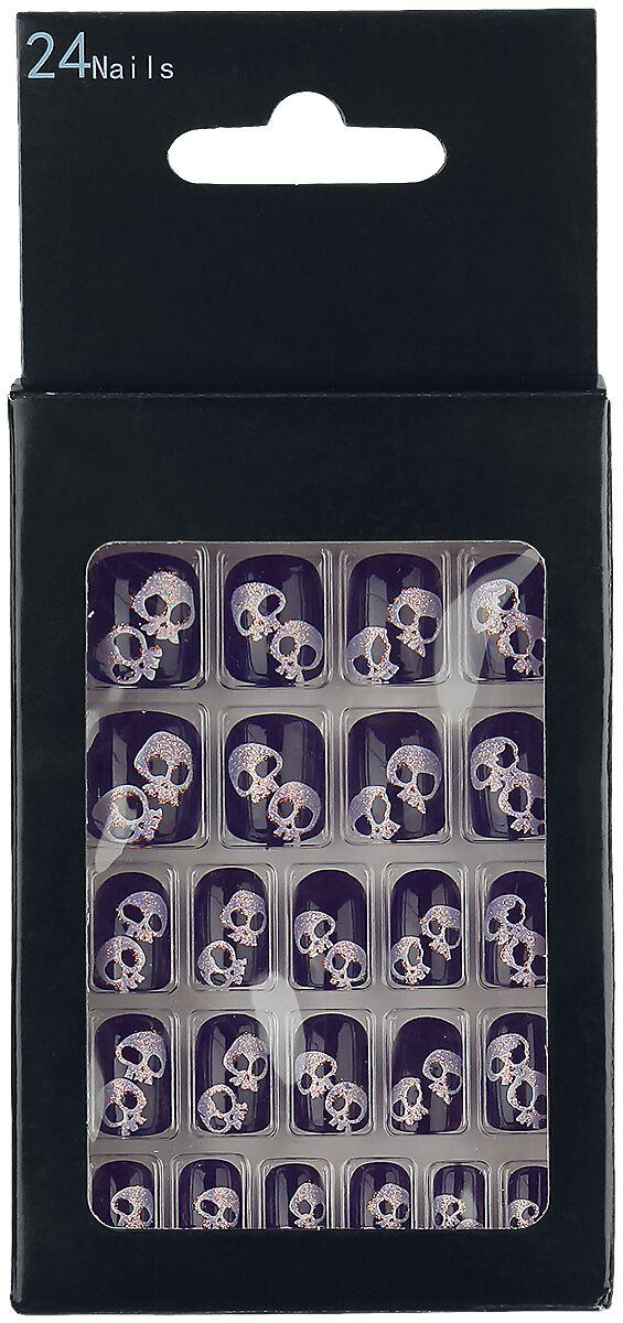 Marki - Kosmetyki - Sztuczne paznokcie Zoelibat Skulls Sztuczne paznokcie purpurowy/biały - 350678