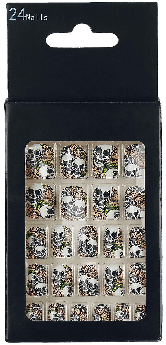 Marki - Kosmetyki - Sztuczne paznokcie Zoelibat Skulls and Roses Sztuczne paznokcie czarny/biały/czerwony - 350681