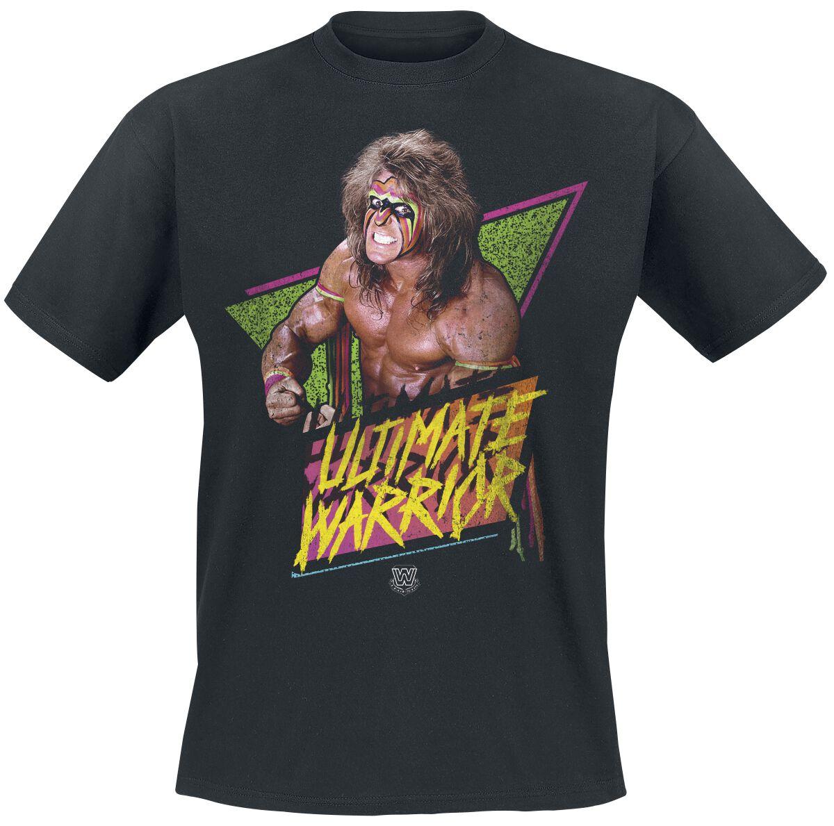 Merch dla Fanów - Koszulki - T-Shirt WWE Ultimate Warrior T-Shirt czarny - 350704