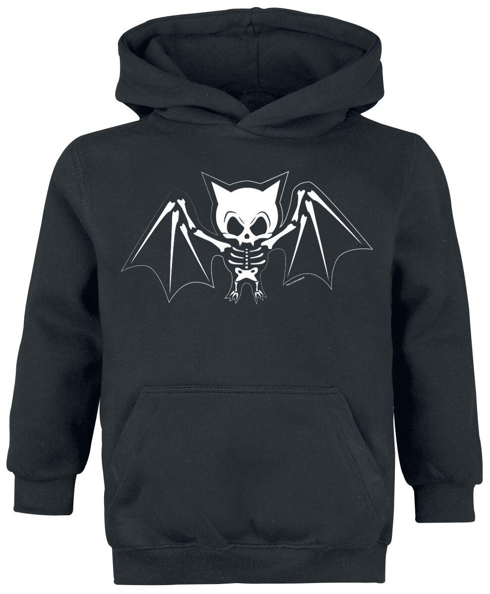 Obraz z Bat Skeleton Bluza z kapturem dziecięca czarny