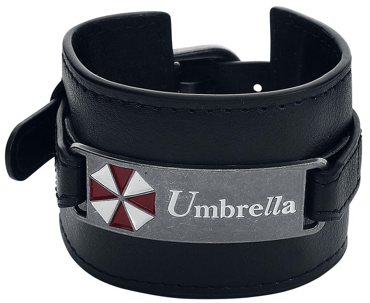 Merch dla Fanów - Bransoletki - Bransoletka z ekoskóry Resident Evil Umbrella Bransoletka z ekoskóry czarny - 350853