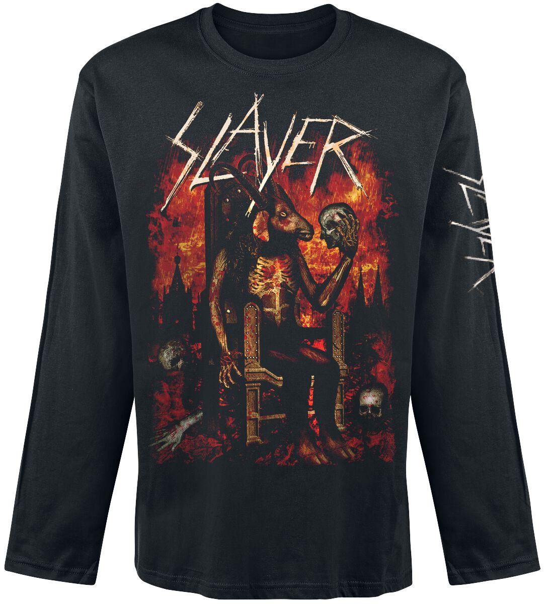 Image of   Slayer Enthroned Langærmet sort