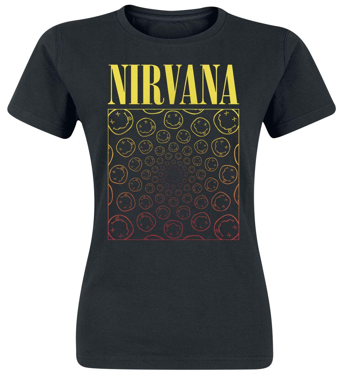 Zespoły - Koszulki - Koszulka damska Nirvana Spiral Smiley Koszulka damska czarny - 350917