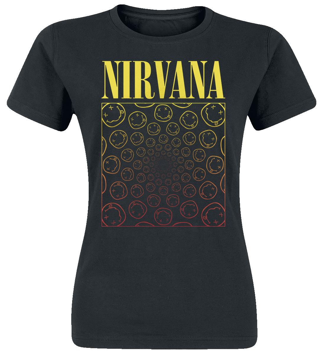 Nirvana Spiral Smiley Koszulka damska czarny