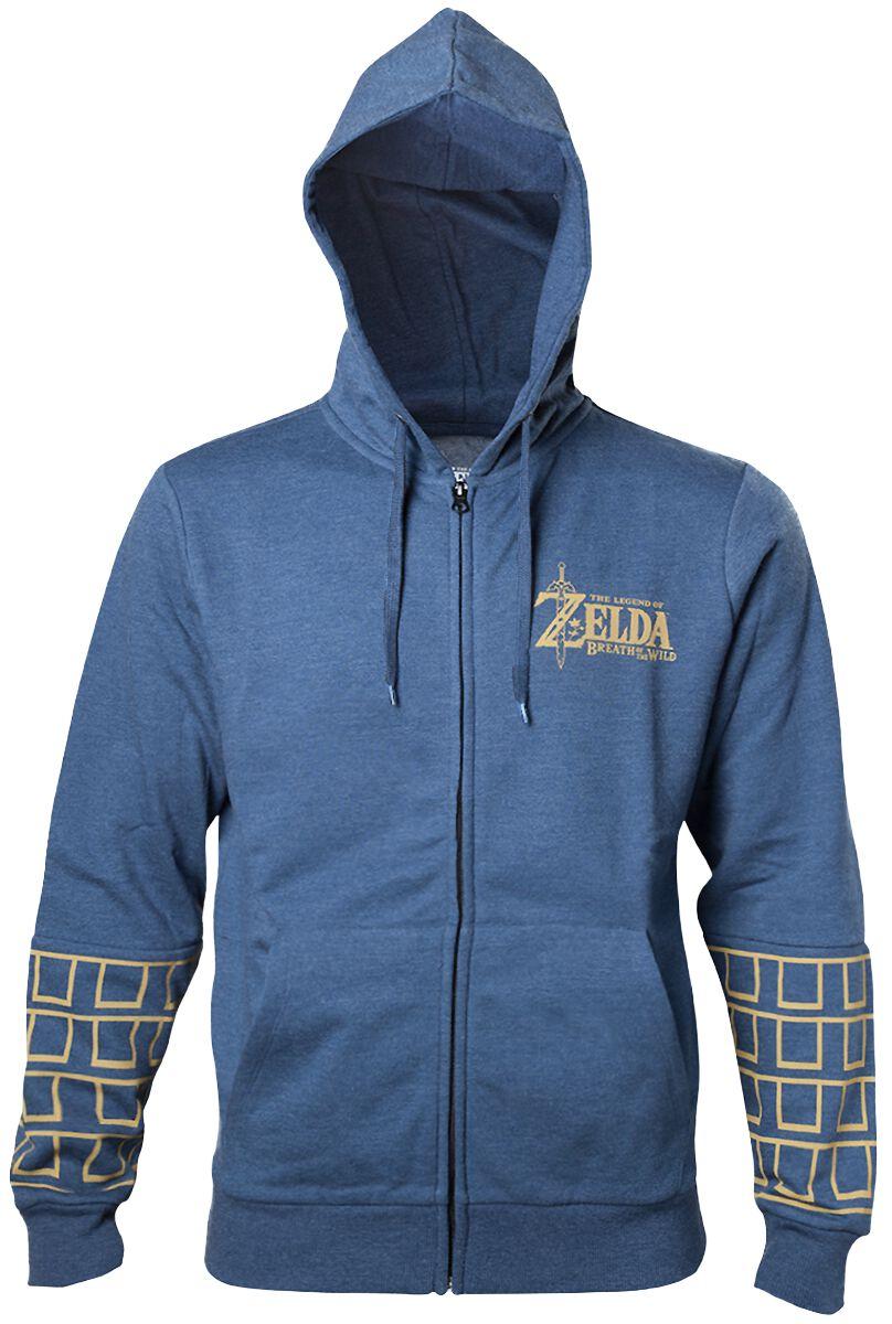 Image of   The Legend Of Zelda Breath Of The Wild - Gold Game Logo Hættejakke blandet blå