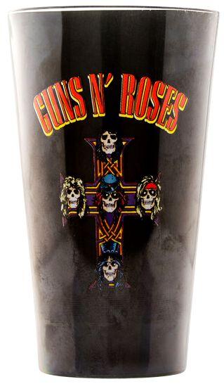 Image of   Guns N' Roses Logo Ølglas sort