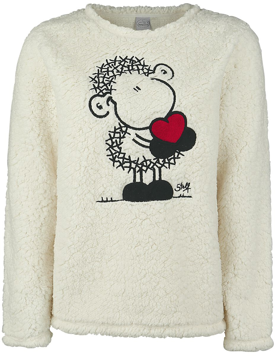 Merch dla Fanów - Bluzy - Bluza damska sheepworld Sheep Heart Bluza damska biały (Old White) - 350988