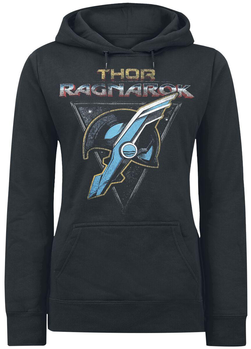 Image of   Thor Ragnarok - Retro Helmet Girlie hættetrøje sort