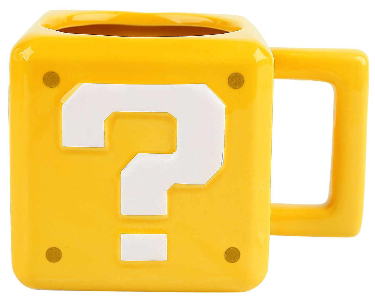 Image of   Super Mario Question Block Krus gul