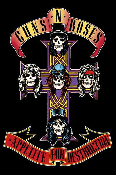 Image of   Guns N' Roses Appetite Plakat multifarvet