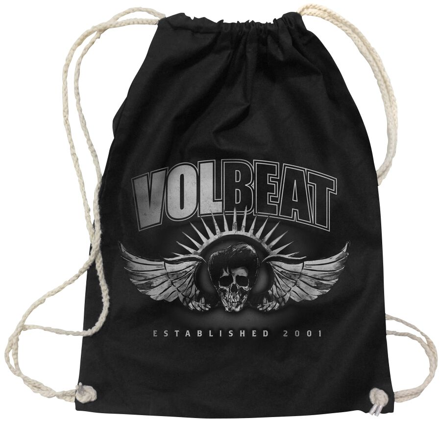 Image of   Volbeat Dark Skullwing Gymnastiktaske sort