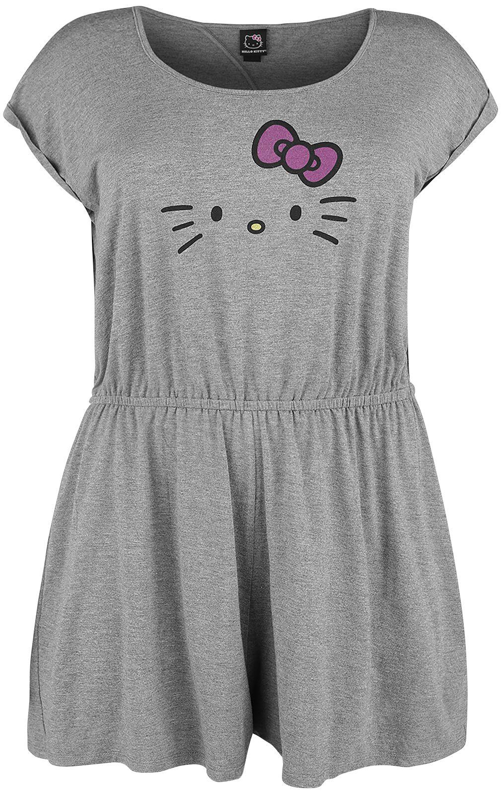 Merch dla Fanów - Spodnie długie - Kombinezon Hello Kitty Placed Hello Kitty Kombinezon odcienie szarego - 351149