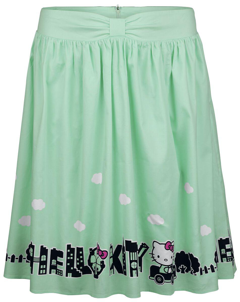 Merch dla Fanów - Spódnice - Spódnica Hello Kitty Hello Kitty City Spódnica zielony (Mint) - 351151