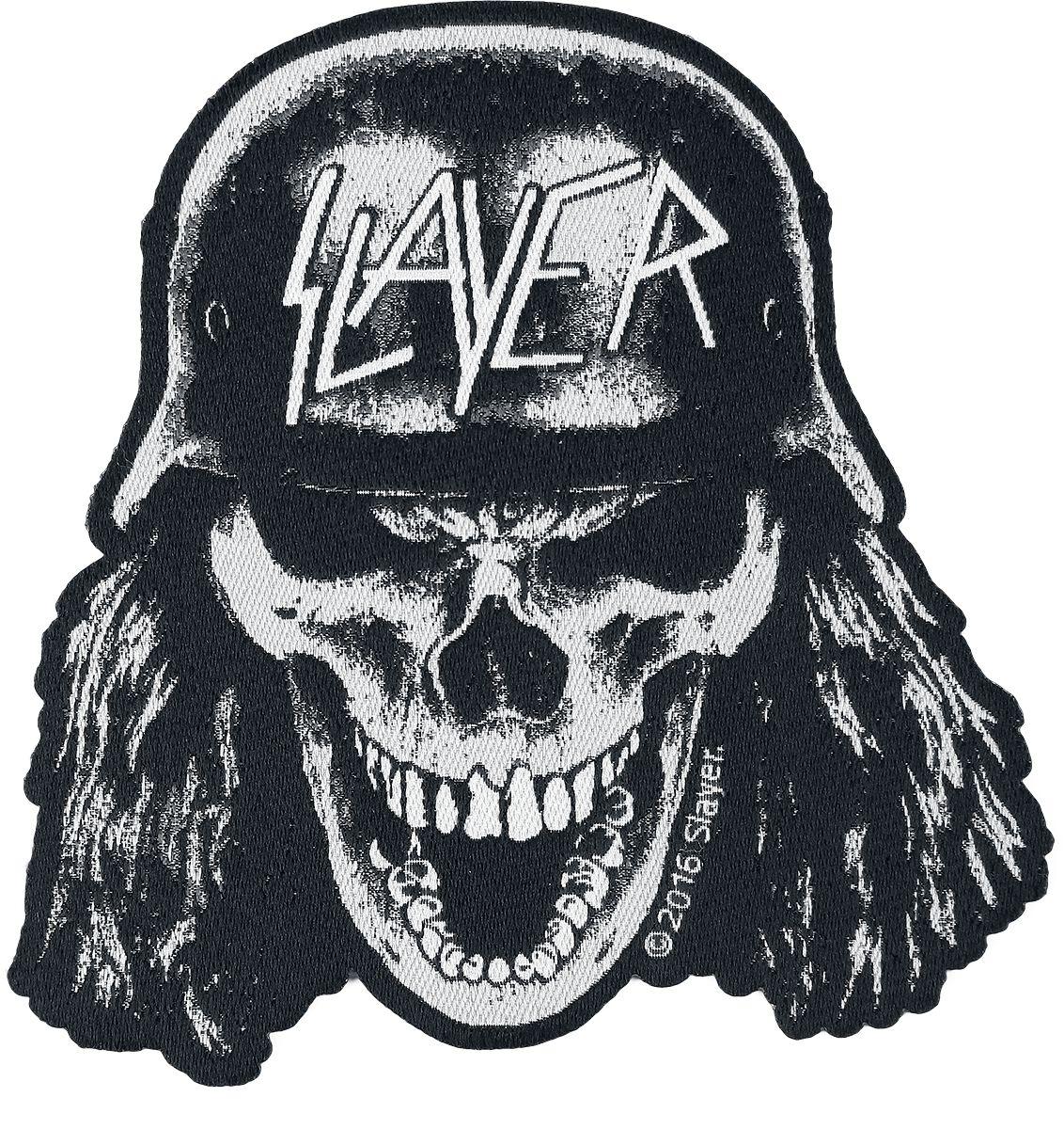 Slayer Wehrmacht Skull Patch schwarz/weiß