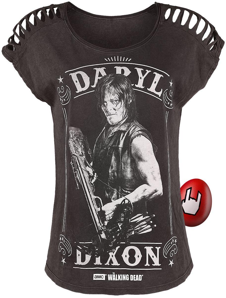 The Walking Dead Daryl Dixon Koszulka damska brązowy