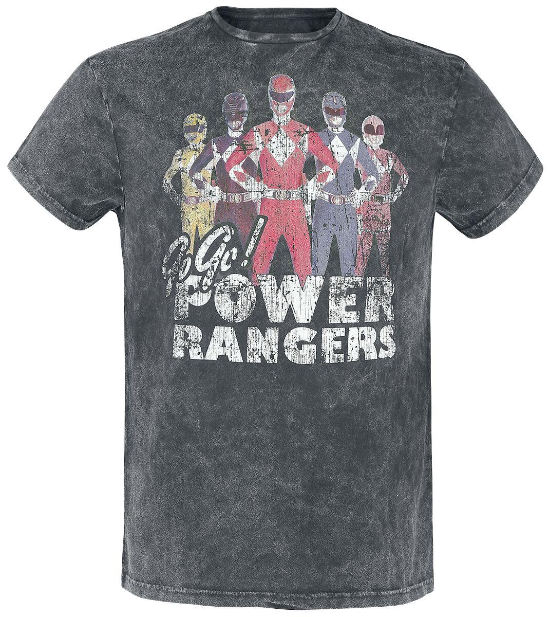 Merch dla Fanów - Koszulki - T-Shirt Power Rangers Go Go Power Rangers T-Shirt ciemnoszary - 351263