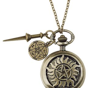 Supernatural Anti Possession Montre pendentif couleur or