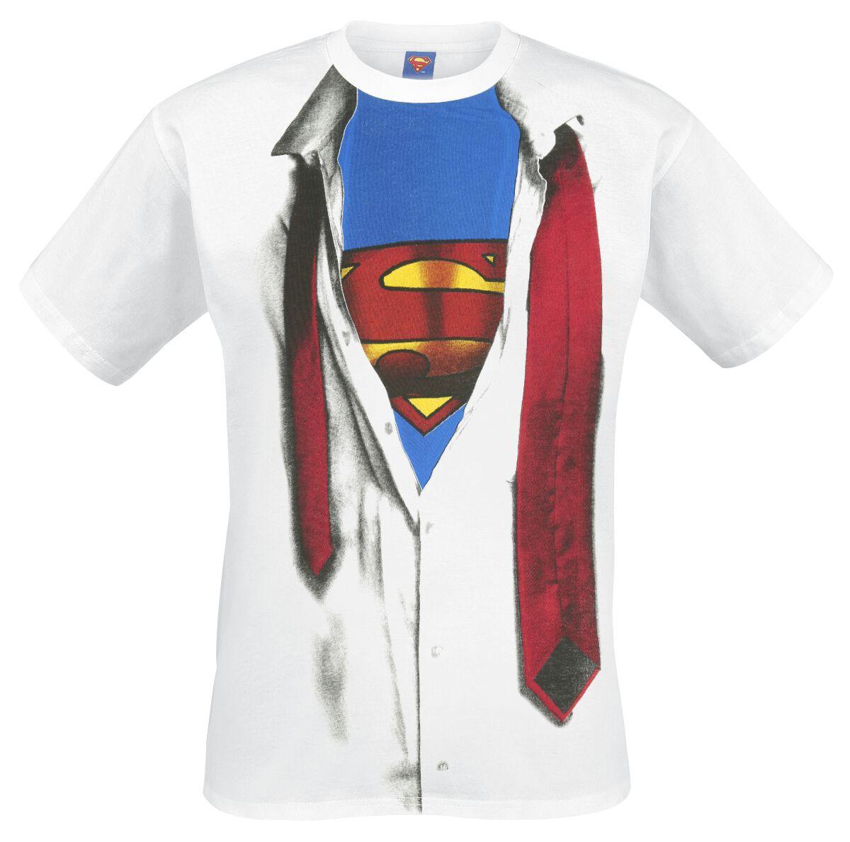 Merch dla Fanów - Koszulki - T-Shirt Superman Cosplay Shirt T-Shirt biały - 351324