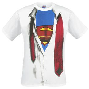 Superman T-Shirt Cosplay T-shirt blanc
