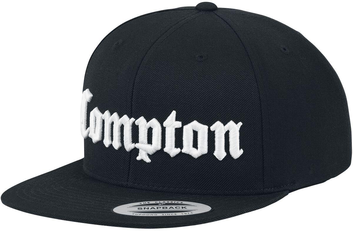 Zespoły - Czapki i Kapelusze - Czapka Snapback Compton Logo Czapka Snapback czarny - 351328