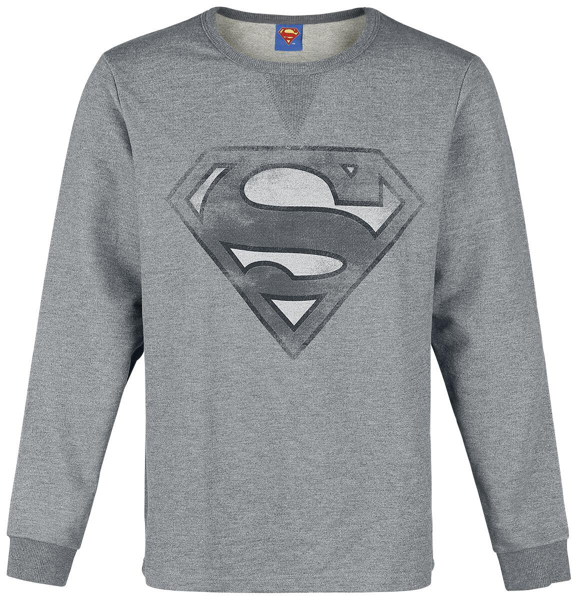 Merch dla Fanów - Bluzy - Bluza Superman Logo Bluza odcienie szarego - 351374