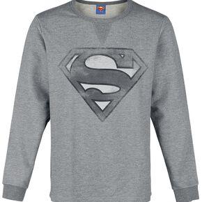 Superman Logo Sweat-shirt gris chiné