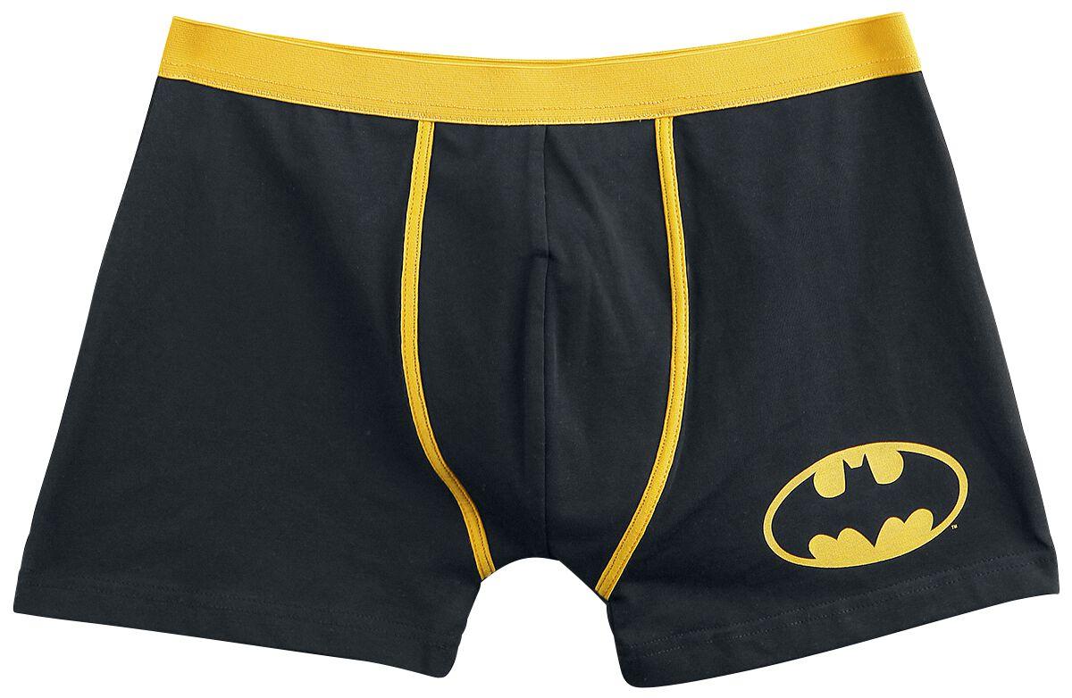 Merch dla Fanów - Bielizna - Bokserki Batman Logo Bokserki czarny/żółty - 351380
