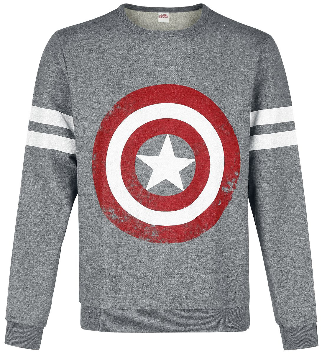 Image of   Captain America Logo Sweatshirt grålig