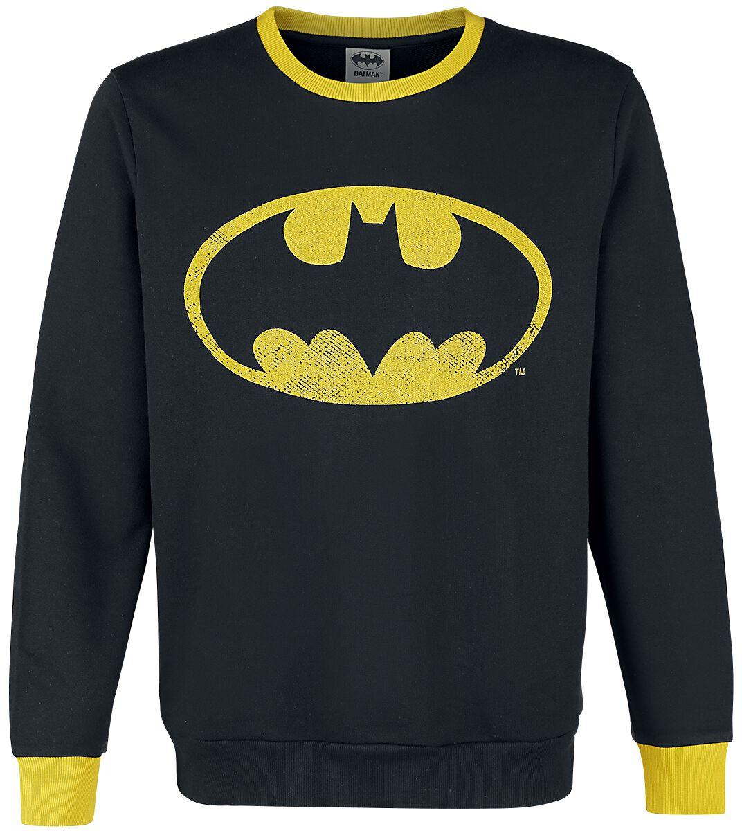 Merch dla Fanów - Bluzy - Bluza Batman Logo Bluza czarny/żółty - 351385