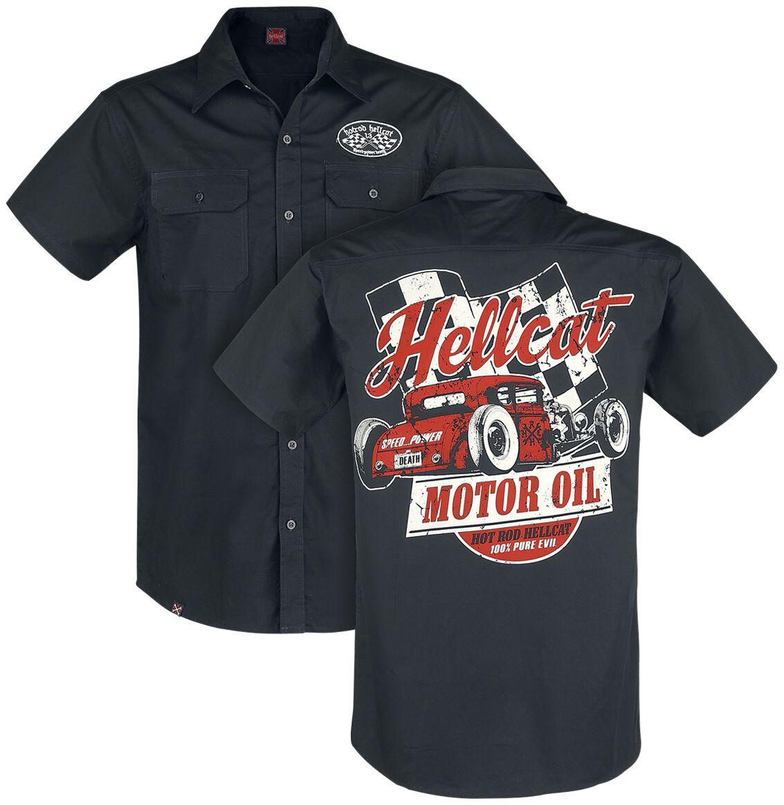 Hot Rod Hellcat Motor Oil Hemd schwarz