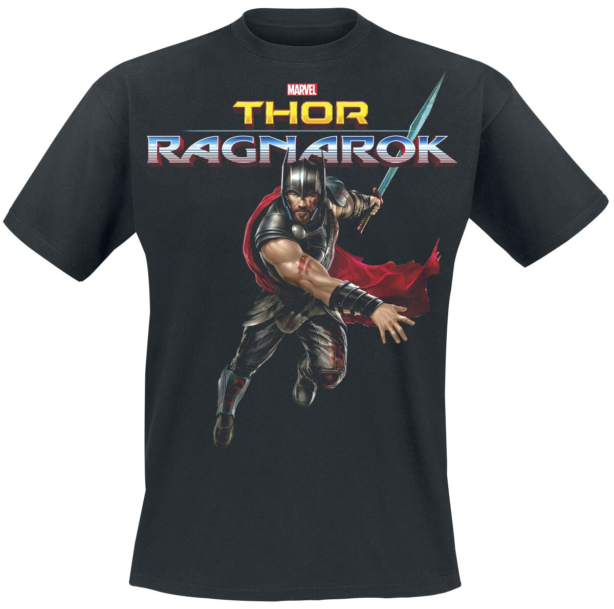 Image of   Thor Ragnarok - Thor Attack T-Shirt sort