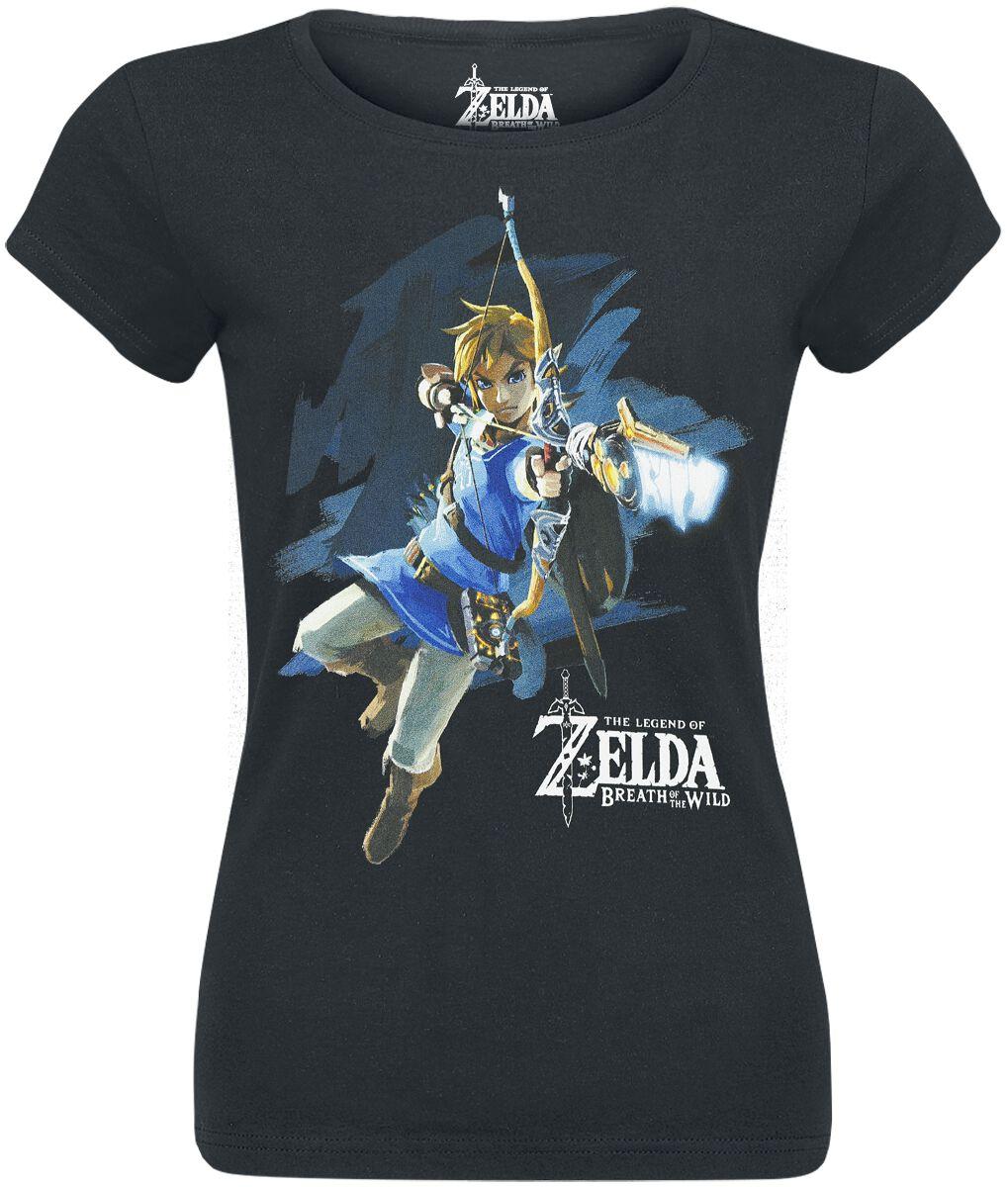 Image of   The Legend Of Zelda Breath Of The Wild - Link With Arrow Girlie trøje sort