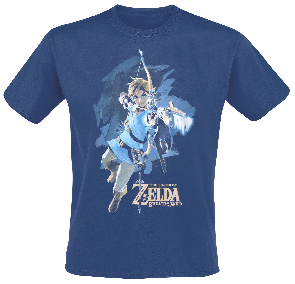 Image of   The Legend Of Zelda Breath Of The Wild - Link With Arrow T-Shirt blå